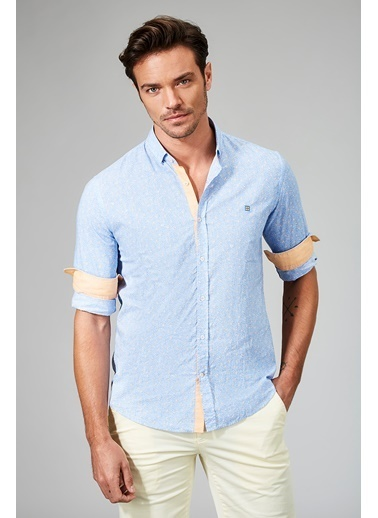 Avva Uzun Kollu Gömlek Mavi